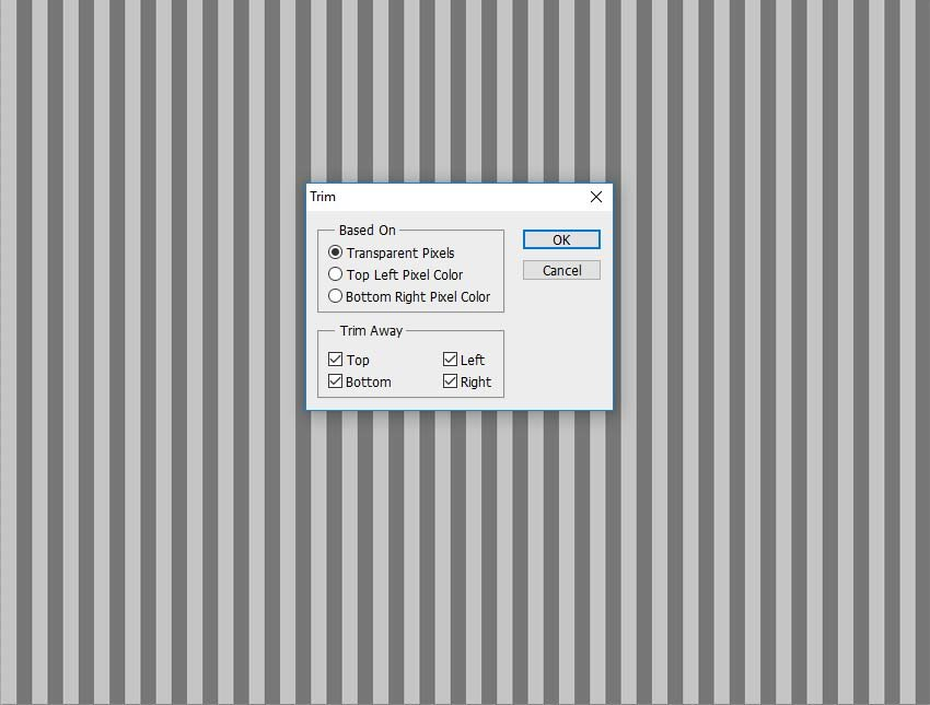 Trim Transparent Pixels in Photoshop