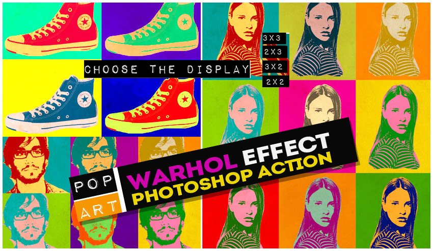 Warhol Pop Art Photoshop Action