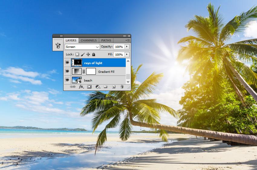 Sunlight Rays in Photoshop