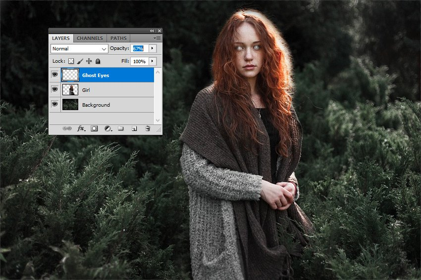 Create Ghost Eyes in Photoshop