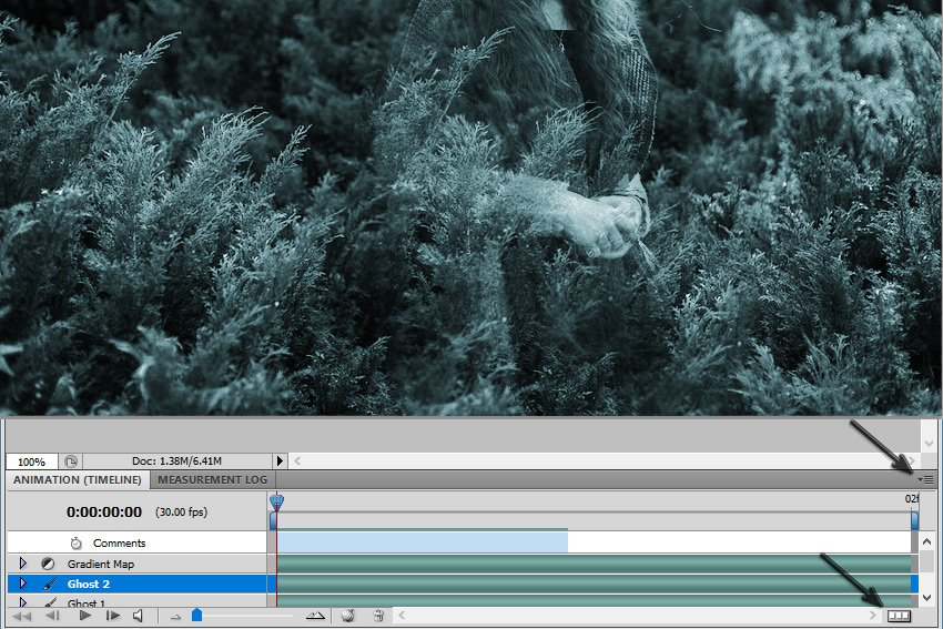 Convert to Frame Animation in Photoshop
