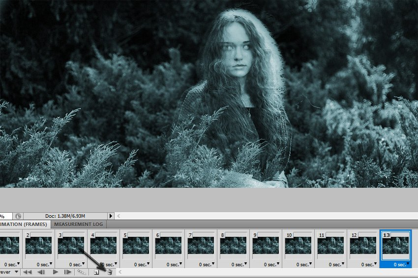 Delete Selected Frames in Photoshop