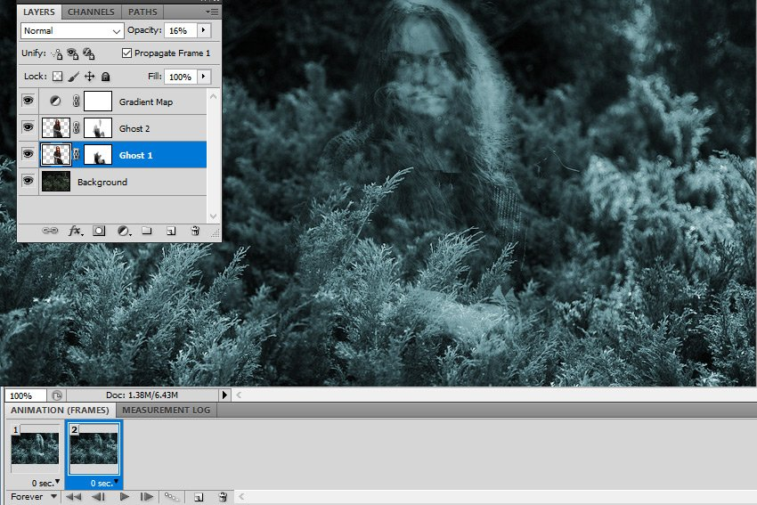 Lower the Layer Opacity