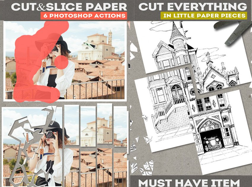Cut and Slice Photo Effect Photoshop