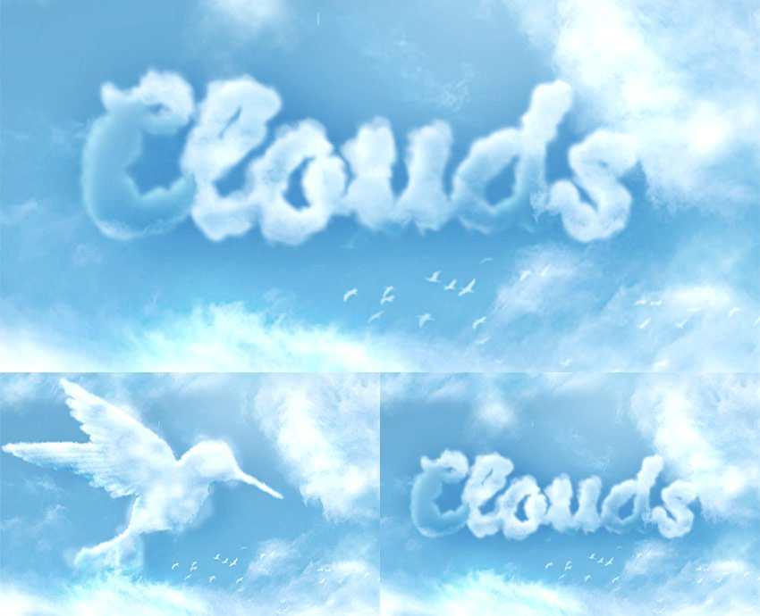 How to Make Clouds in Photoshop Tutorial Cloud Effect Photoshop