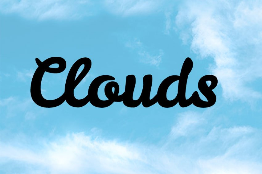 How to Add Clouds in Photoshop Tutorial Add Text in Photoshop