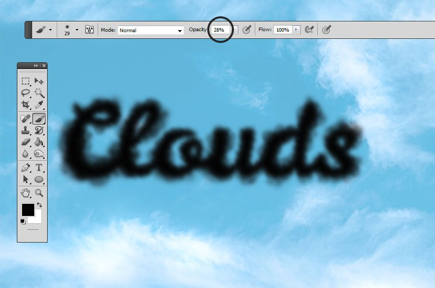 How to Add Clouds in Photoshop Tutorial Clouds Effect with Clouds Brush