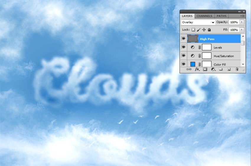 How to Create Clouds in Photoshop Tutorial Sharpen Image in Photoshop