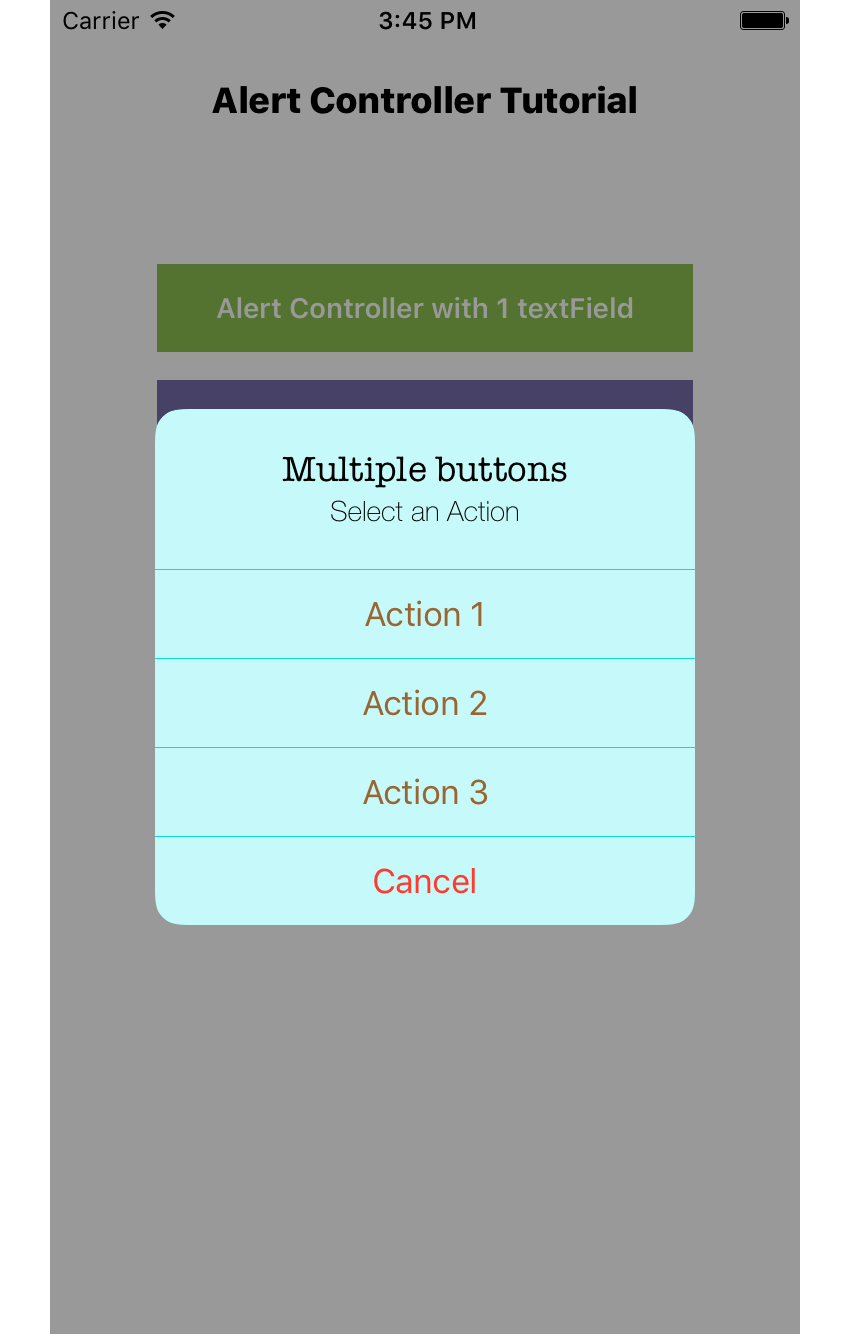 Alert Controller with 4 buttons