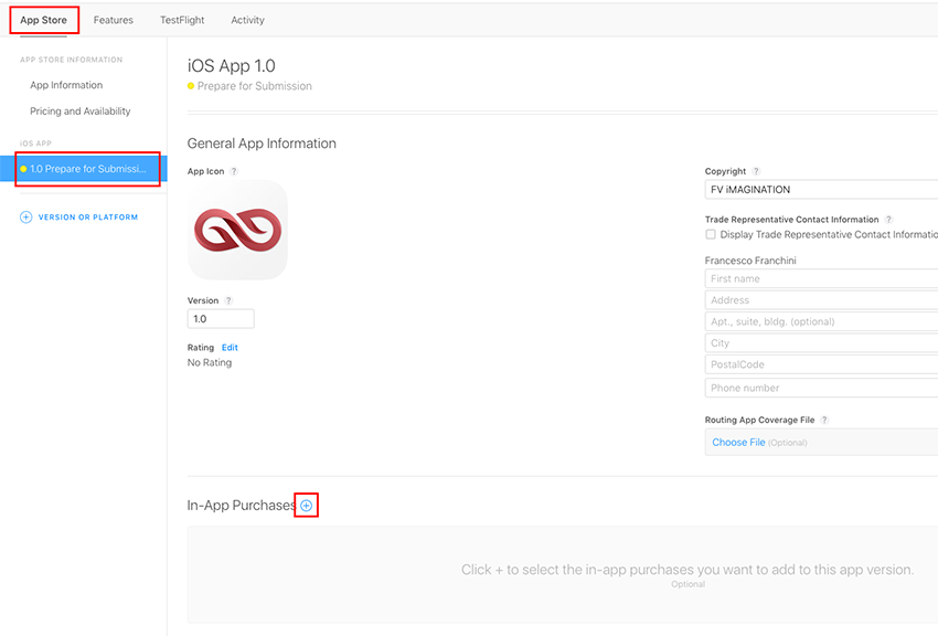 Add In-App Purchases to your apps info page