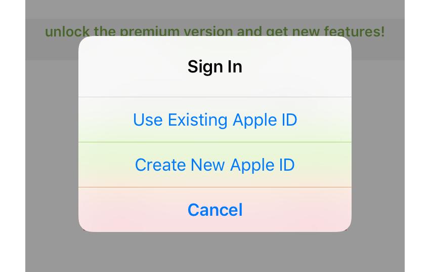 App Store Sign In alert