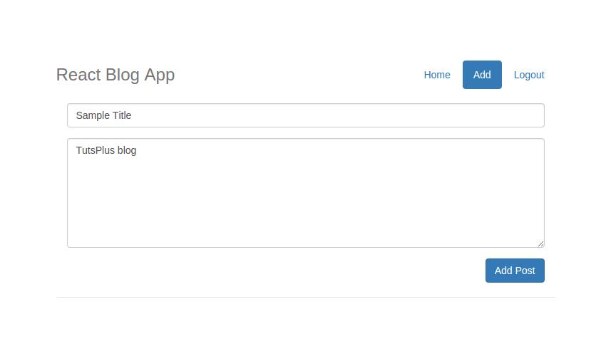 React Blog App Edit Screen