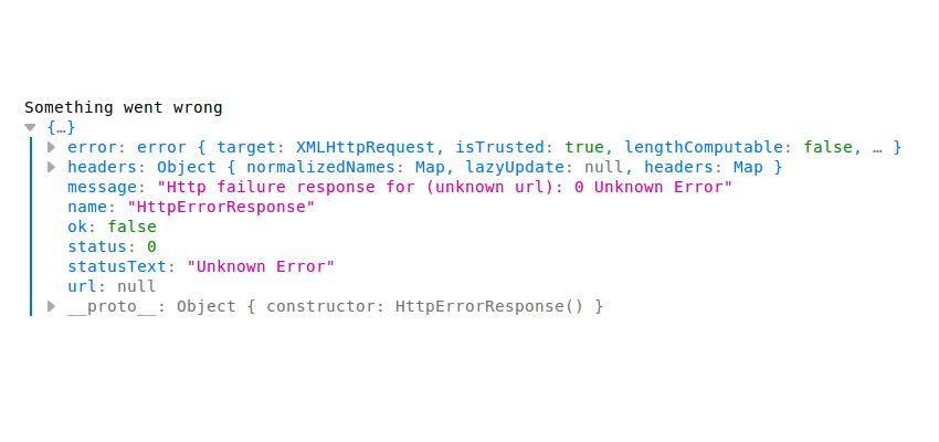 Error Handler Angular HttpClient