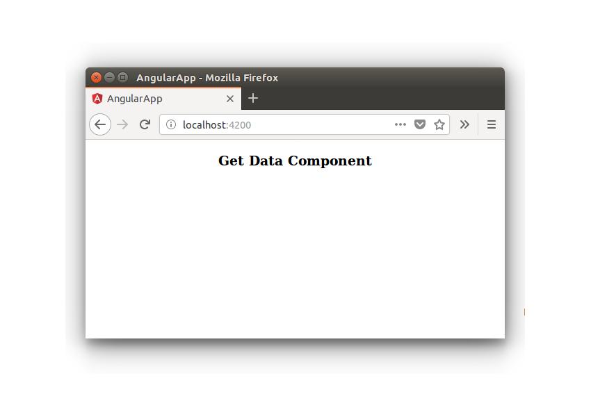 Get Data Component