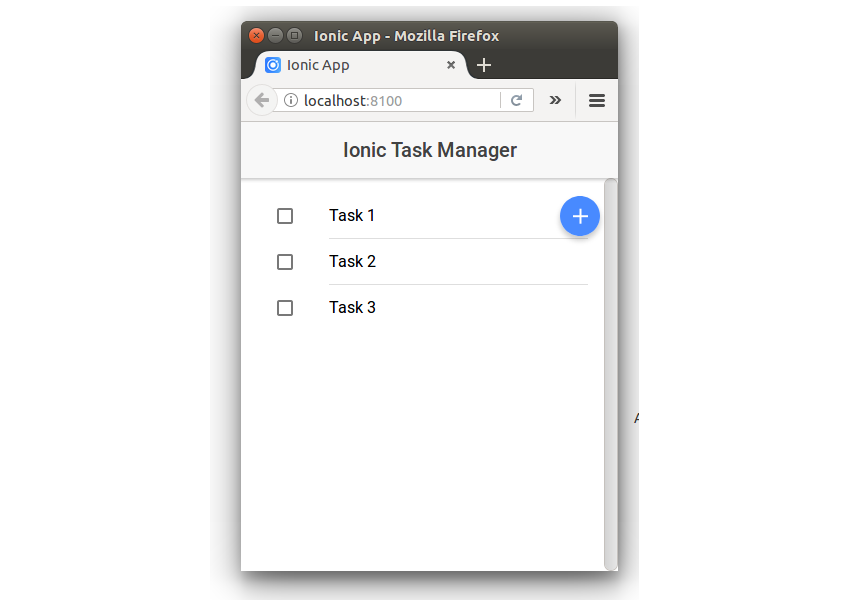 Task Manager List With Add Icon