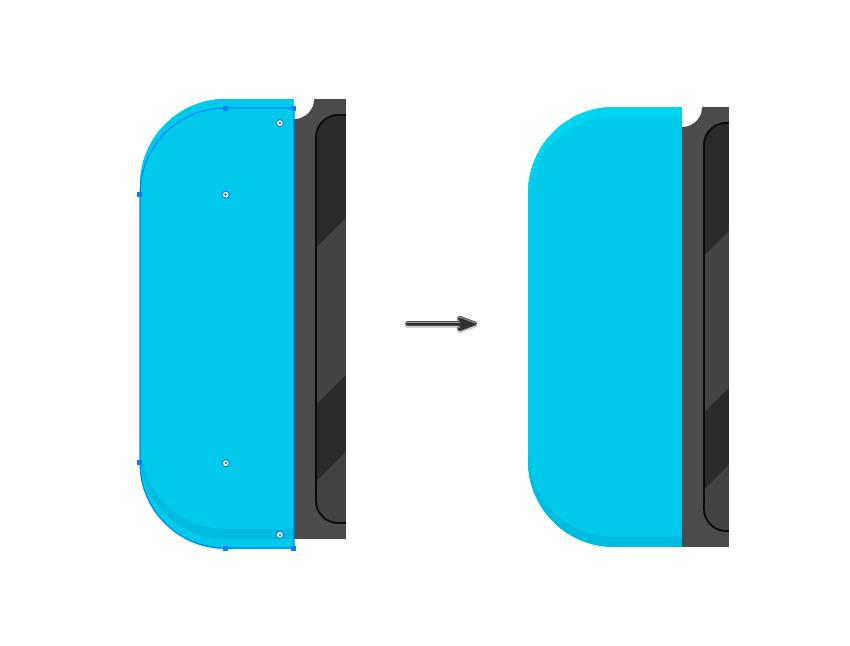 A highlight bezel on the left control