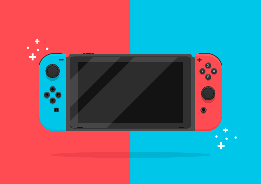 Nintendo Switch Illustration Adobe Illustrator Tutorial