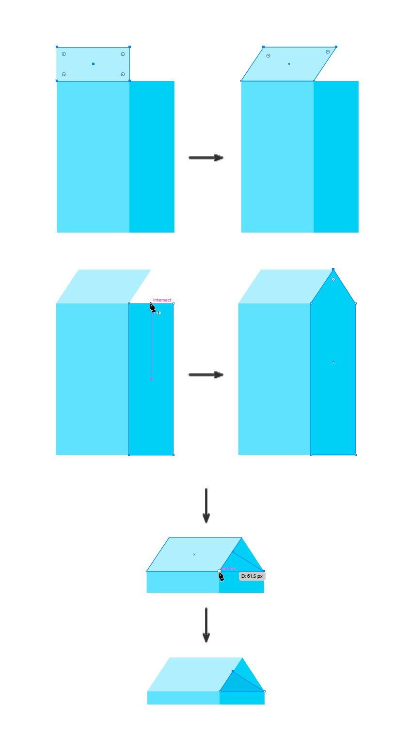 adding the rectangle top