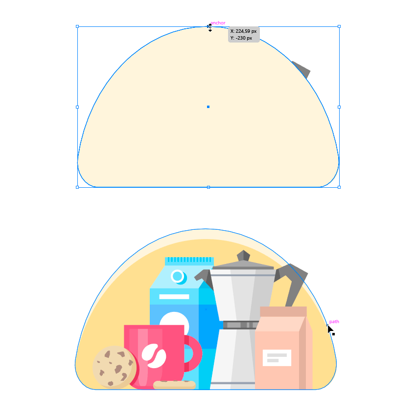 Creating a semi ellipse in the background
