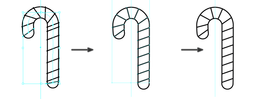 replace the spline in the blend to curve the candy cane stripes