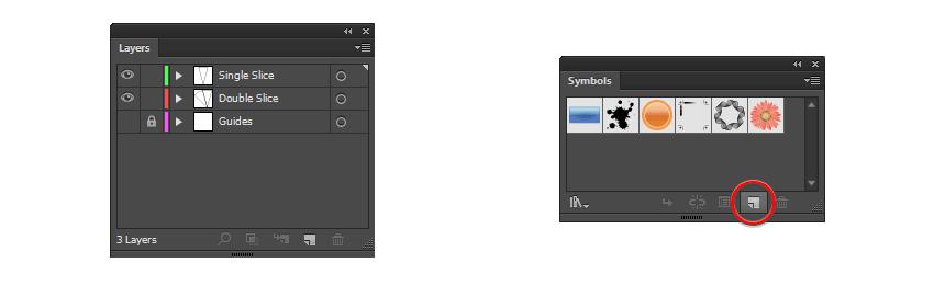 create the symbols using the symbols panel in Illustrator