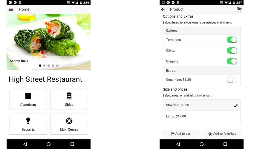 Restaurant Ionic App template