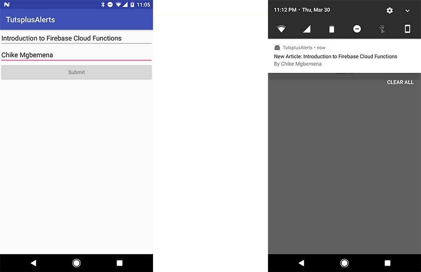 final app screenshots