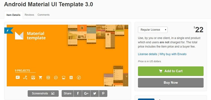 Envato Android Material UI Template 30