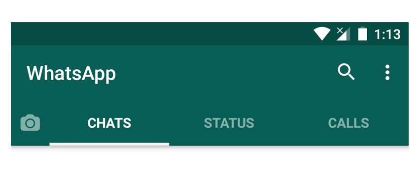 WhatsApp fixed TabLayout sample