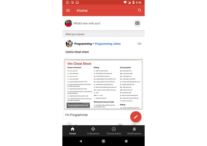 Screenshot of Google Android app