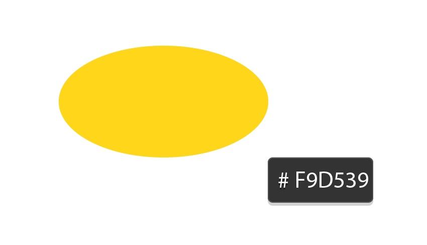 yellow F9D539 ellipse