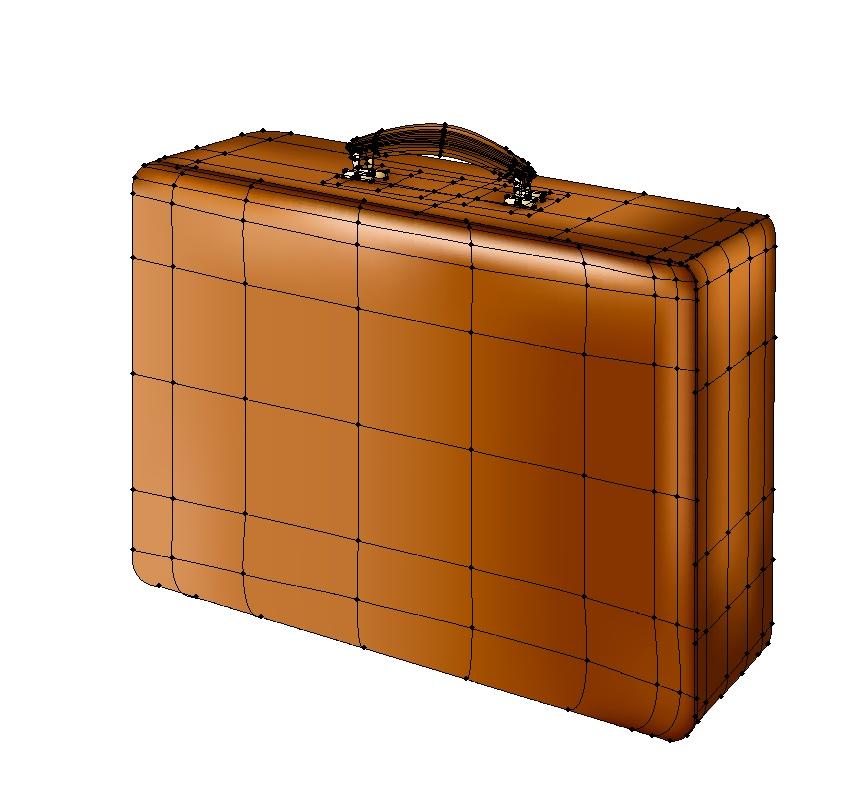 finished suitcase
