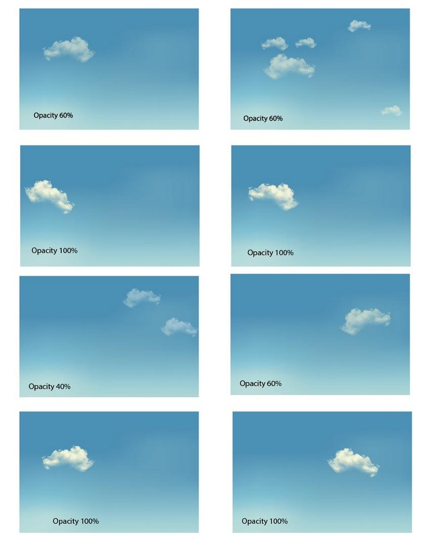 create realistic clouds