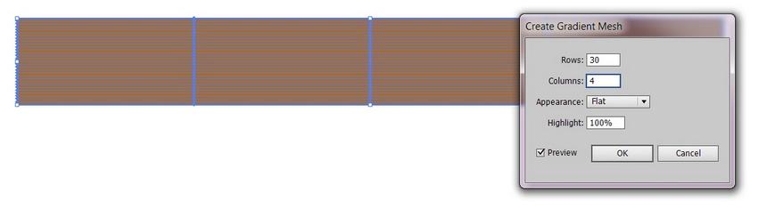 create 30x4 mesh grid