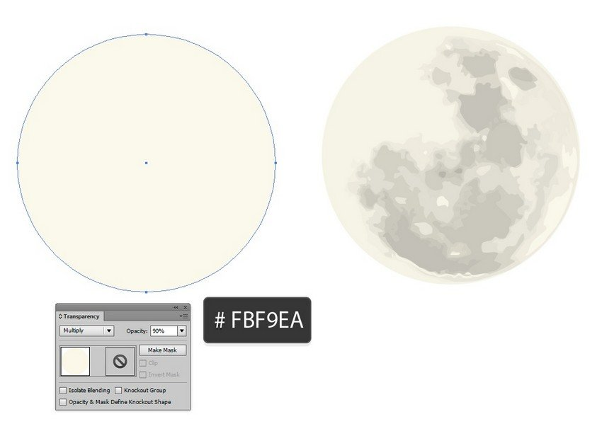 add foreground to moon