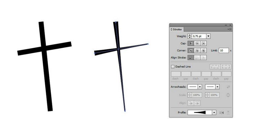 draw cross
