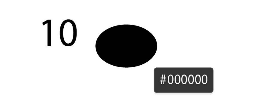 black ellipse