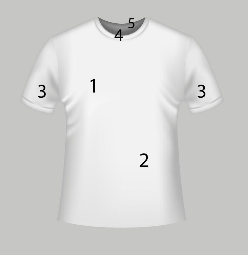 photo-realistic t-shirt mockup template