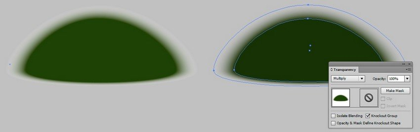 blend shadow vector