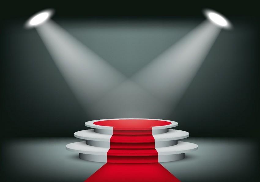 vector showroom red carpet mesh spotlight tutorial