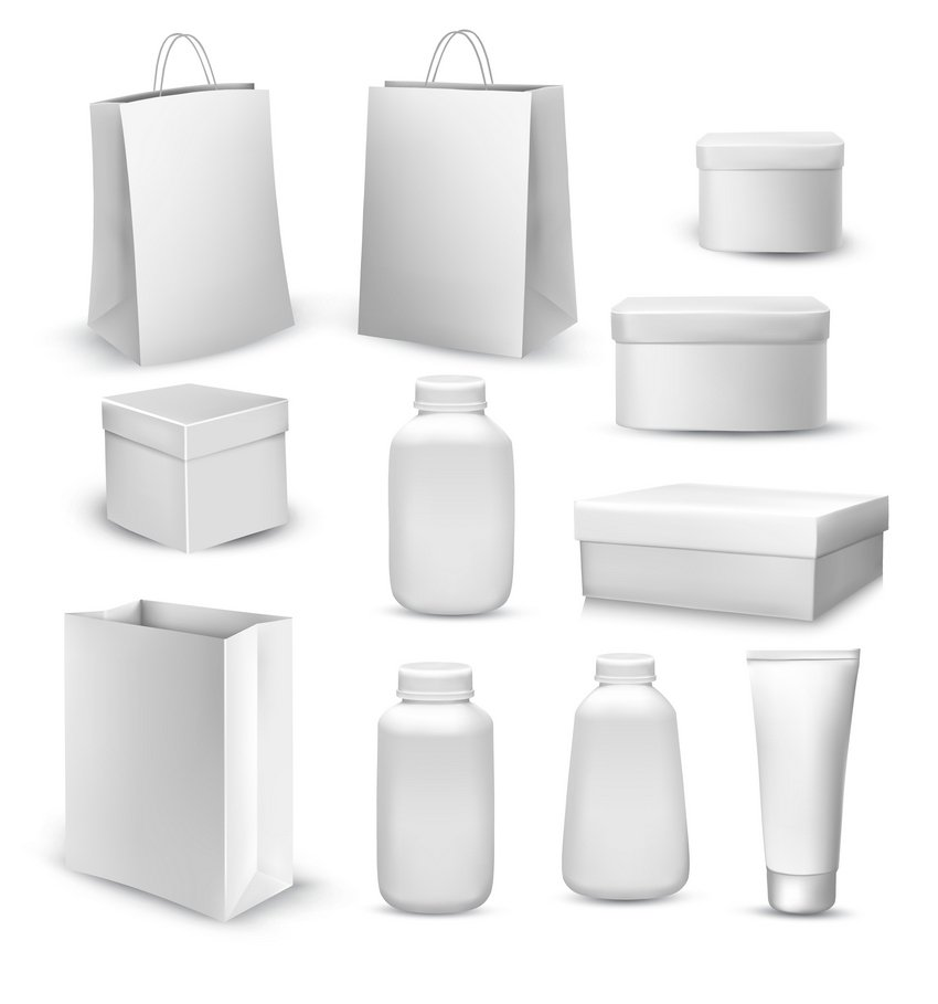 Collection of Shopping Bags and Gift Boxes