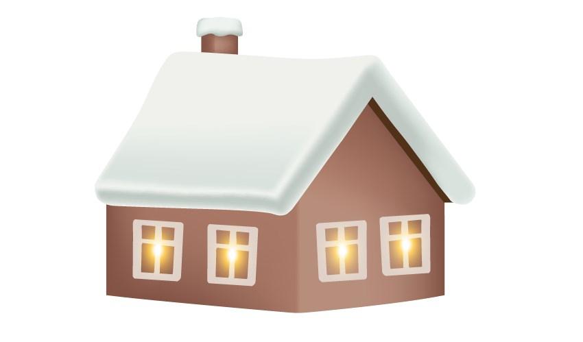 mesh house winter background design