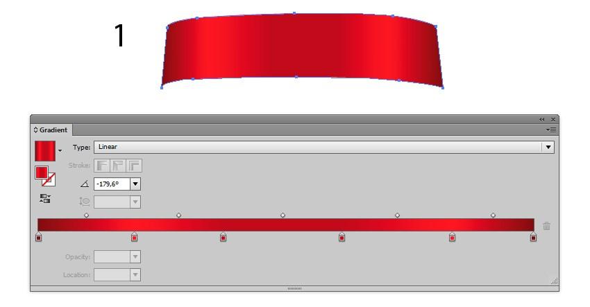 gradient ribbon