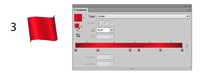 gradient ribbon background design