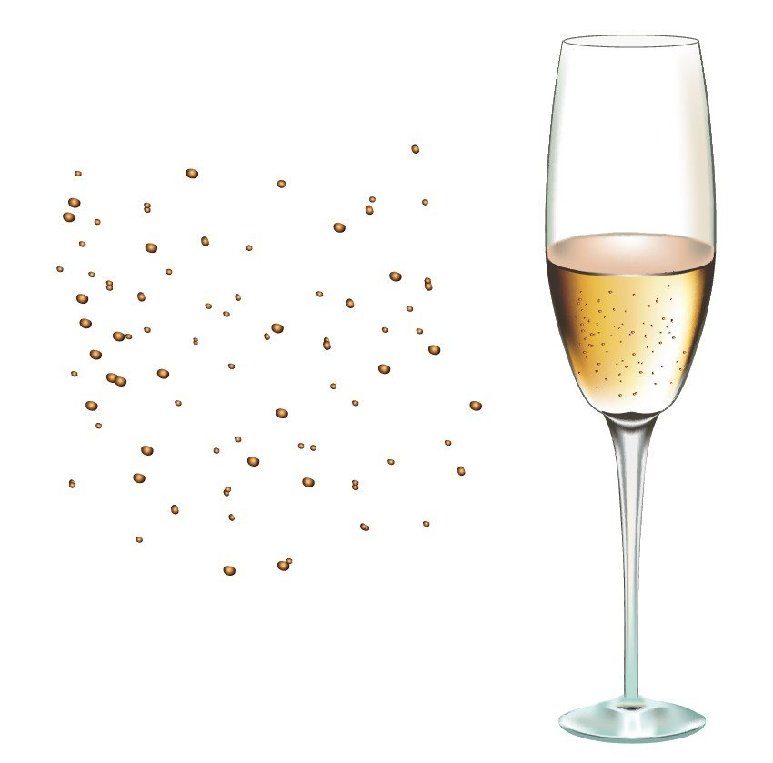 champagne glass tutorial retro background