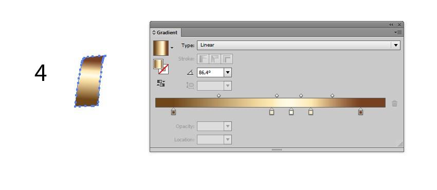 design in Illustrator ribbon