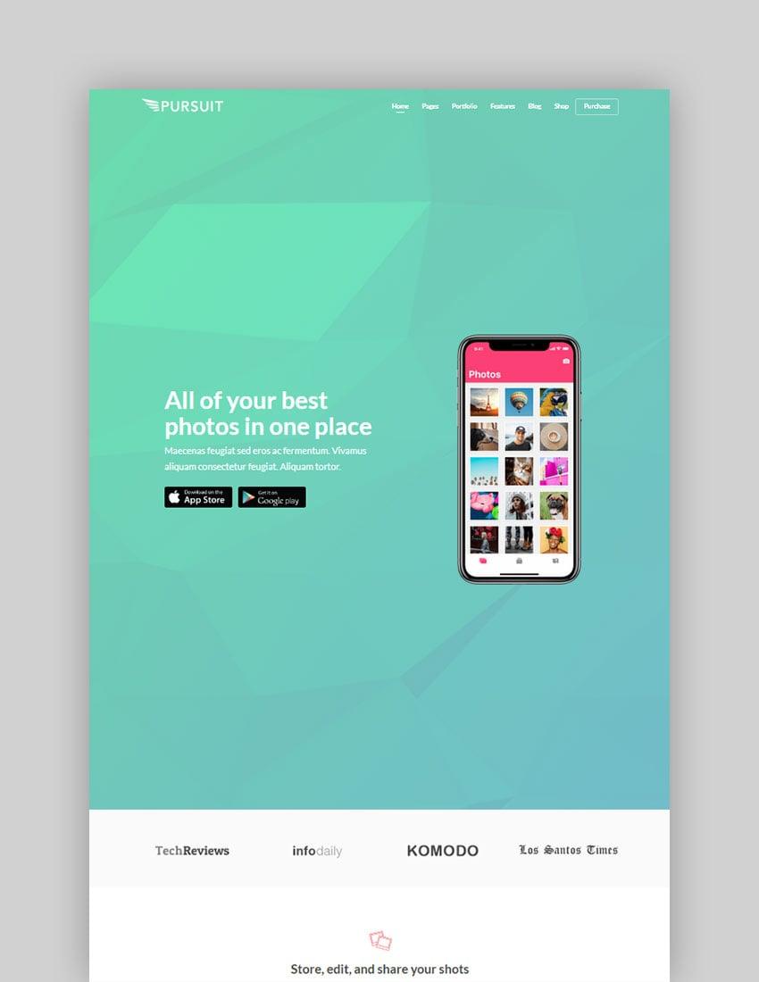 Pursuit A Flexible App Cloud Software Theme