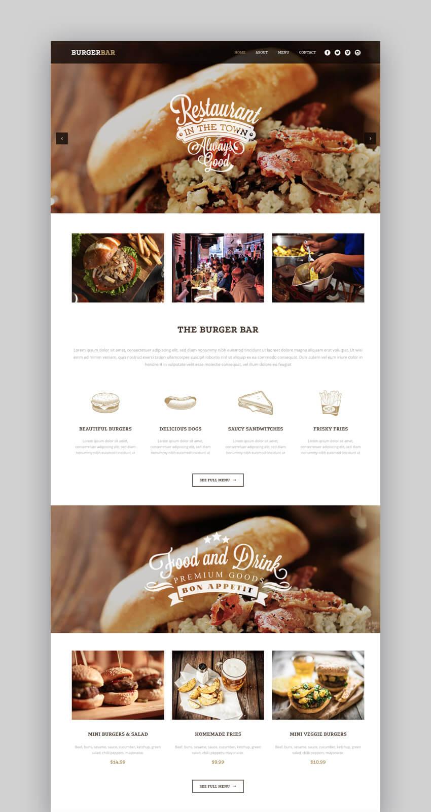Bodega - Elegante tema de WordPress para el sitio web de una empresa