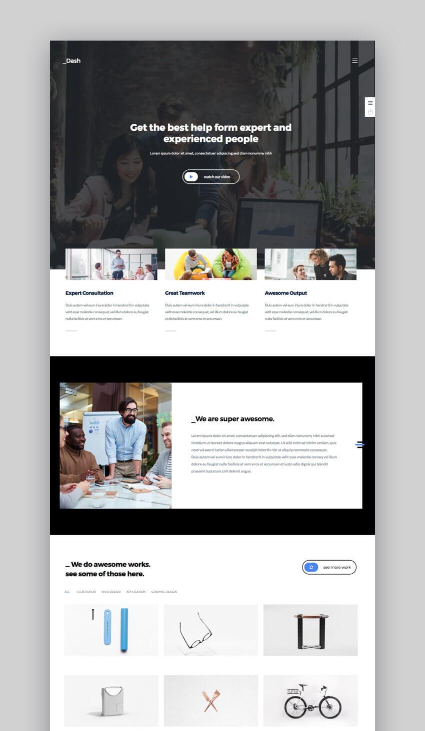 Dash - Plantillas de WordPress profesionales para web de empresa