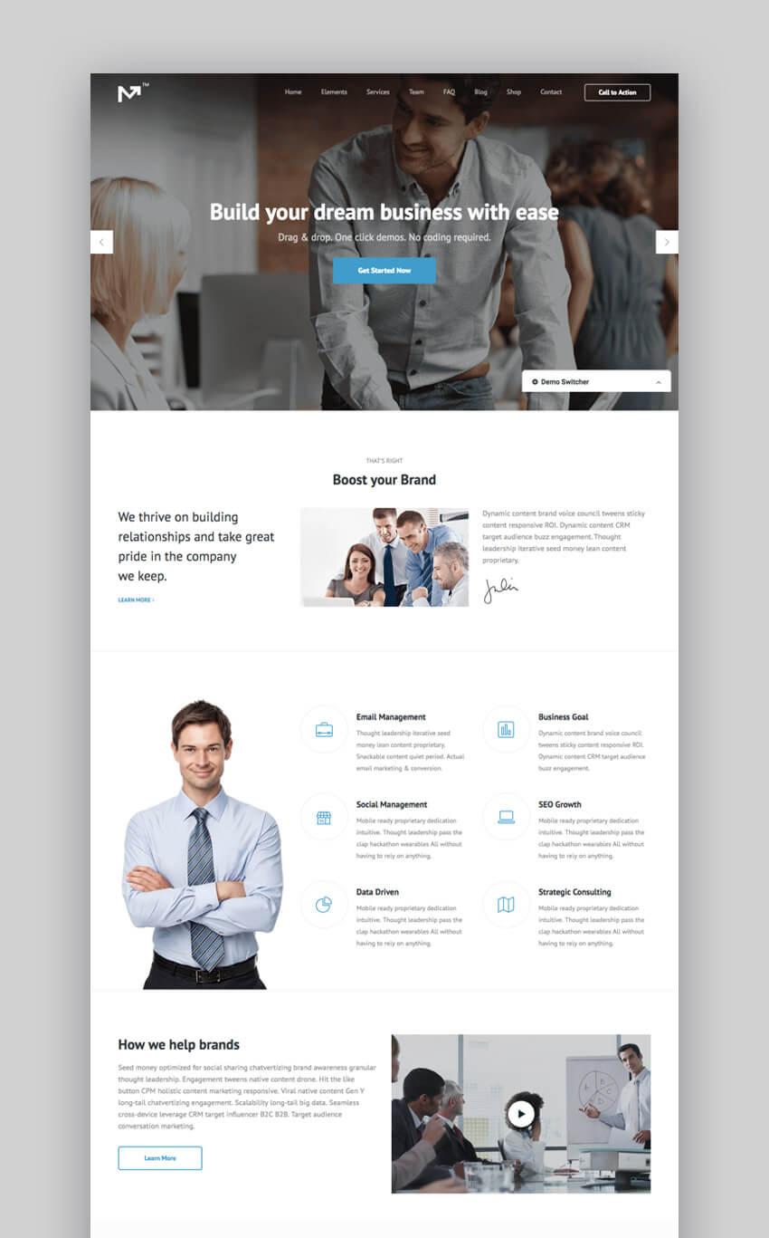 Marketing Pro - Tema de WordPress para la web de una empresa y para marketing